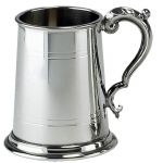 BT438 1 Pint English Pewter Lined Tankard
